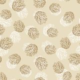 Vintage Christmas and Holidays seamless hand drawn. Pattern Royalty Free Stock Photo