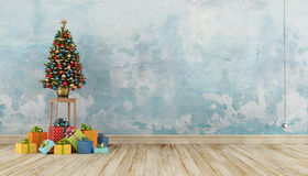 Vintage Christmas interior Royalty Free Stock Photo