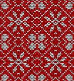 Vintage Christmas knitted pattern royalty free illustration