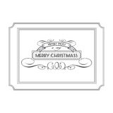 Vintage Christmas logo with the words and wishes Royalty Free Stock Image