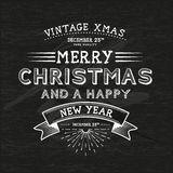 Vintage Christmas Message Stock Photography