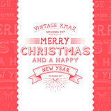Vintage Christmas Message Royalty Free Stock Photography
