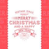 Vintage Christmas Message stock illustration