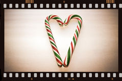 Vintage Christmas movie. Royalty Free Stock Image