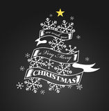 Vintage Christmas And New Year Background On Blackboard. Vector Illustration vector illustration