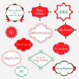 Vector set of labels and frames in red, green and white colors. stock illustration