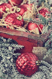 Vintage Christmas Ornaments Stock Photos