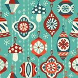 Vintage Christmas ornaments seamless vector background. vector illustration