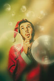 Vintage christmas party elf Royalty Free Stock Photo