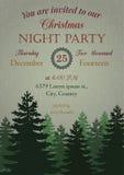 Vintage Christmas Party Invitation Royalty Free Stock Photo