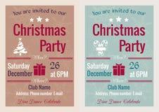 Vintage Christmas party invitation royalty free stock photos