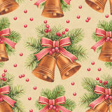 Vintage Christmas pattern Stock Images