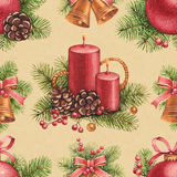 Vintage Christmas pattern Stock Photos
