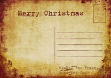 Vintage christmas postcard Royalty Free Stock Photography