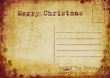 Vintage christmas postcard vector illustration