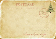 Vintage Christmas postcard Royalty Free Stock Photo