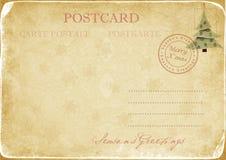Vintage Christmas postcard Royalty Free Stock Photo