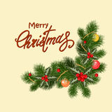 Vintage Christmas postcard Royalty Free Stock Image