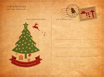 Vintage christmas. Vintage postcard for christmas, Old paper texture Royalty Free Stock Photo