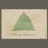 Vintage Christmas postcard Stock Photography