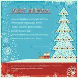 Vintage christmas poster on old poster background  Stock Photography