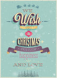 Vintage Christmas Poster. Royalty Free Stock Photo