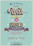 Vintage Christmas Poster. Royalty Free Stock Photo