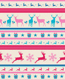 Vintage Christmas reindeers seamless pattern backg Royalty Free Stock Photos
