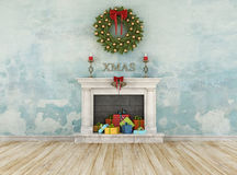 Vintage christmas room Royalty Free Stock Photos