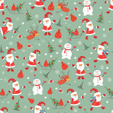 Vintage Christmas seamless pattern Stock Image