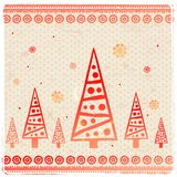 Vintage Christmas set of design elements Stock Photo
