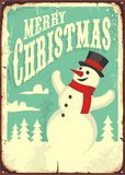 Vintage Christmas sign Royalty Free Stock Images