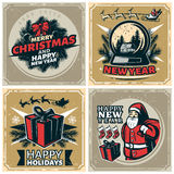 Vintage Christmas Stamps Set Royalty Free Stock Photos