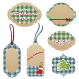 Vintage Christmas tags Royalty Free Stock Photos