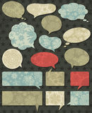 Vintage christmas talk bubble over grunge brown ba Royalty Free Stock Photography