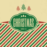 Vintage Christmas Template. / Retro Design / Grunge Background Texture Stock Images