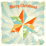 Vintage christmas theme with colorful abstract sta Stock Photos