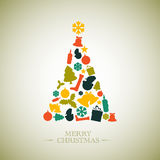Vintage  christmas tree Stock Photography