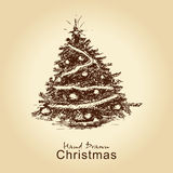 Vintage Christmas Tree Royalty Free Stock Photography
