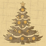 Vintage Christmas tree Royalty Free Stock Photo