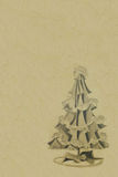 Vintage-christmas-tree-background. Vintage chirstmas tree decoration for background use Stock Image