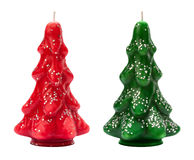 Vintage Christmas Tree Candles from the 1940's. Royalty Free Stock Images