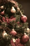Vintage Christmas Tree Royalty Free Stock Images