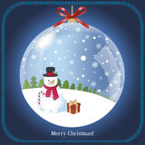 Vintage Christmas Tree -  illustration Royalty Free Stock Photo