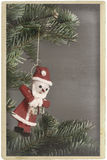 Vintage christmas tree ornament Santa Claus Royalty Free Stock Photo