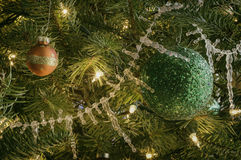 Vintage Christmas Tree Ornaments Stock Photo