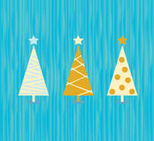 Vintage christmas tree pattern Stock Photography