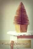 Vintage Christmas Treee Stock Image