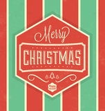 Vintage Christmas Typographic Background Royalty Free Stock Photography