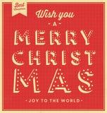 Vintage Christmas Typographic Background Stock Photos